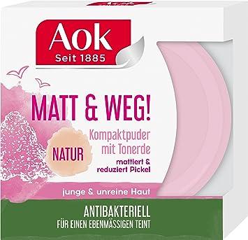 Aok Mattierendes Kompaktpuder Mit Tonerde 6er Pack 6 X 1 Stück