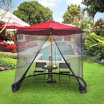 Amazon.com: TANGKULA - Paraguas para patio con mosquitera ...