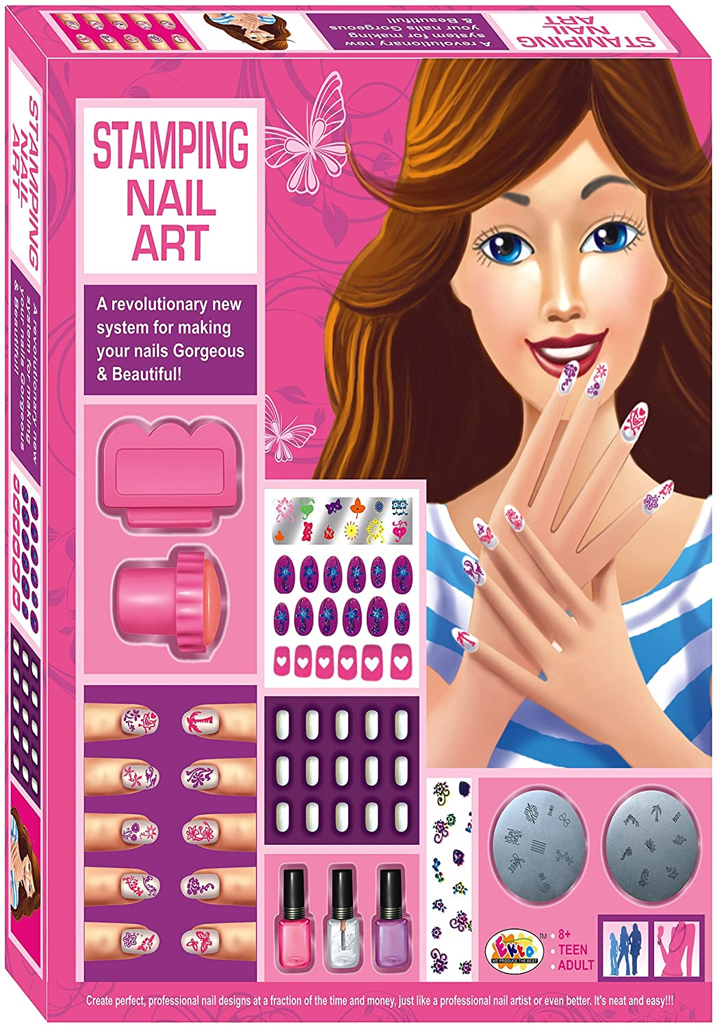 Stamping nail art amazon toys games prinsesfo Image collections