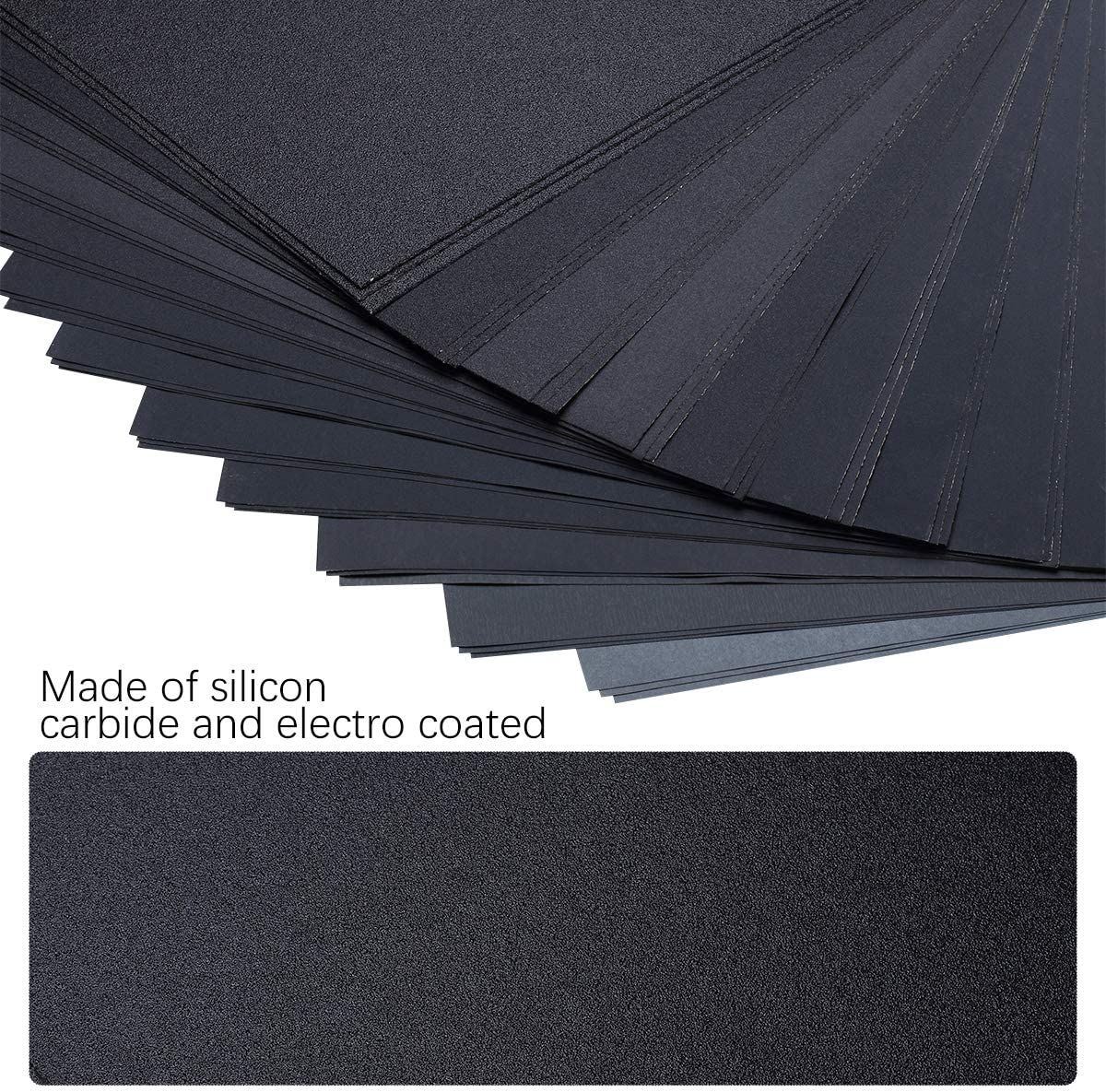 120 To 5000 Assorted Grit Sandpaper for Wood Furniture Finishing, Metal Sanding and Automotive Polishing, Dry or Wet Sanding, 9 x 11 Inch, 36-Sheet 61J4nt9Xg3L