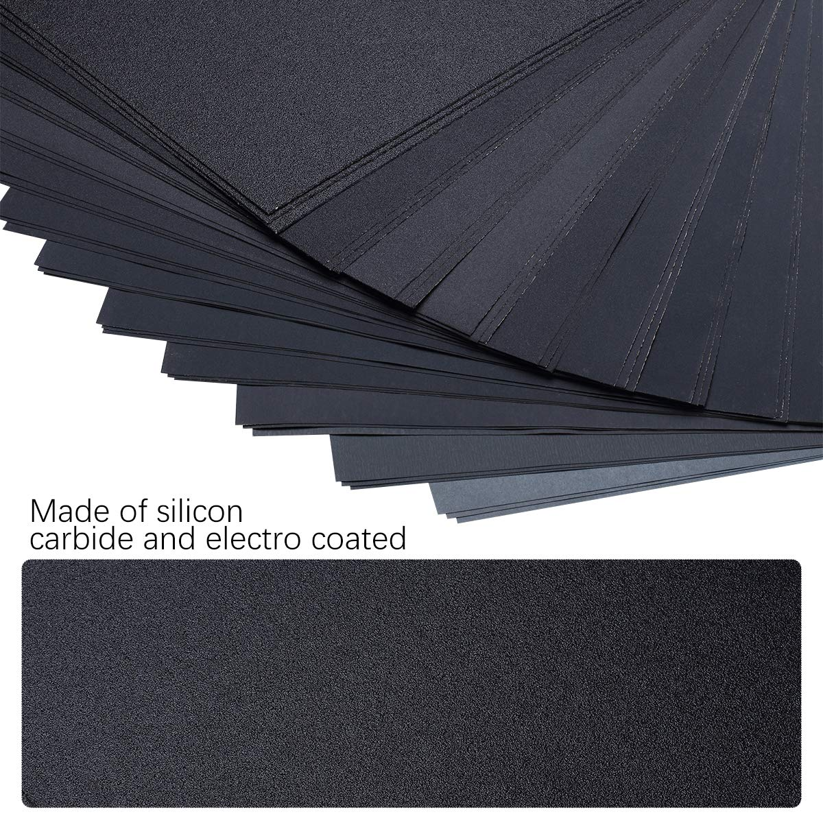 Dry or Wet Sanding Metal Sanding and Automotive Polishing 120 To 3000 Assorted Grit Sandpaper for Wood Furniture Finishing 36-Sheet with Sandpaper Holder 9 x 3.6 Inch