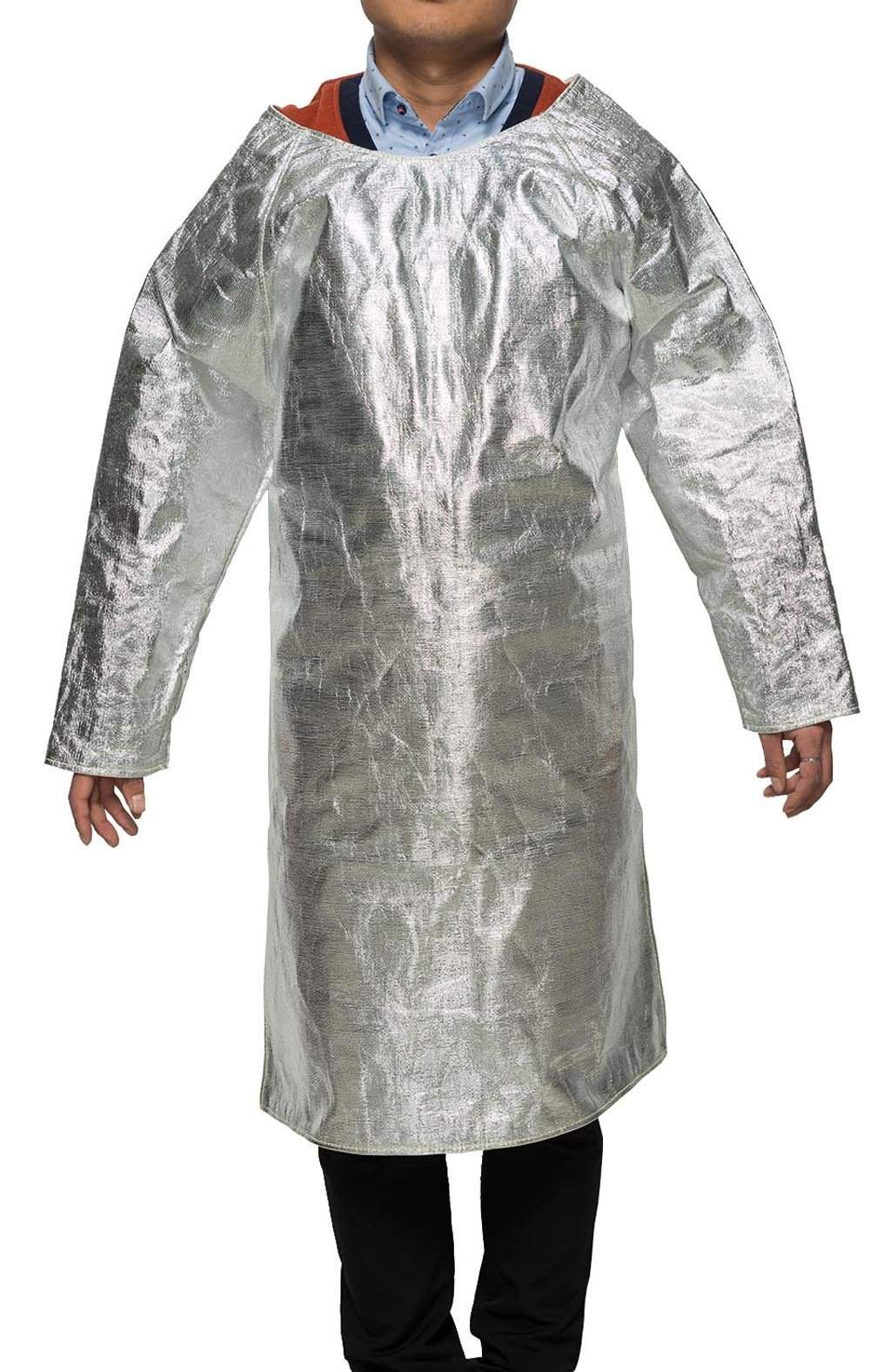Welding Apron Aluminized Heat Resistant Apron Protective Coat Safety Suit Safety Apparel Flame Resistant Safety Lab Apron Welding Gown