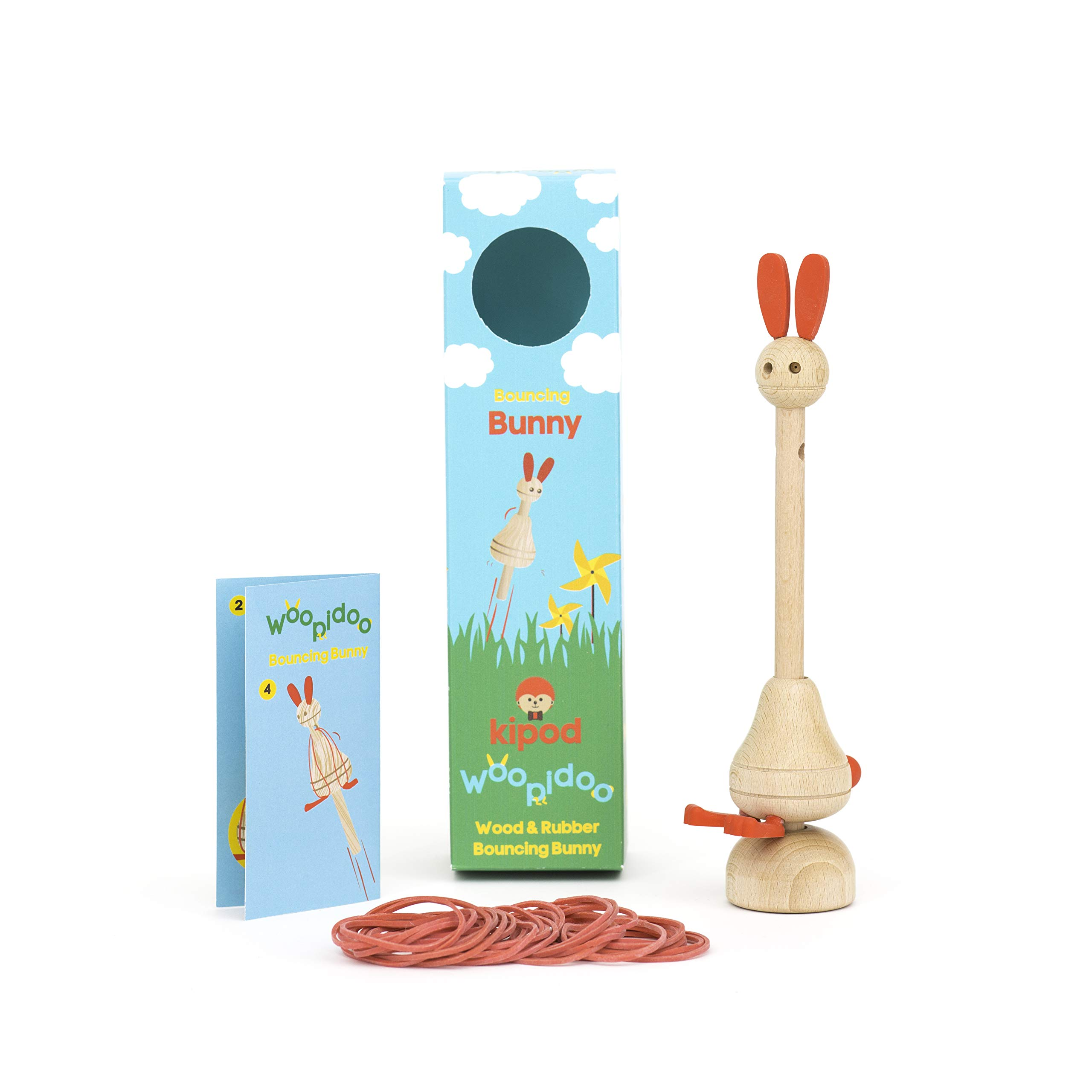 Kipod- Woopidoo Bouncing Rabbit, Multi-Colour (1)