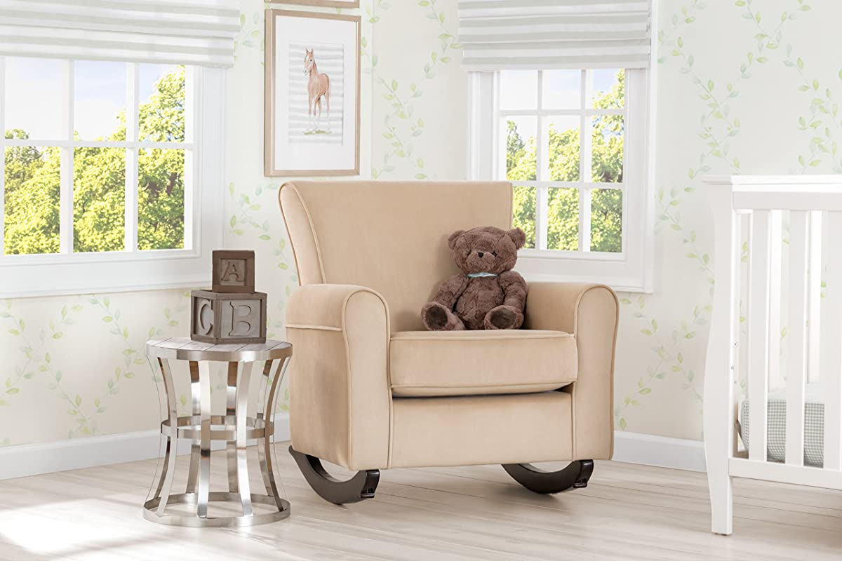 Delta Children Lancaster Rocking Chair Featuring Live Smart Fabric, Sisal
