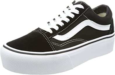 VANS women's shoes low sneakers VN0A3B3UY281 OLD SKOOL PLATFORM size 38  Black white