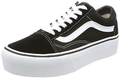 36c7a75002 Vans Women's Old Skool Platform Trainers, (Black/White Y28), 4 UK