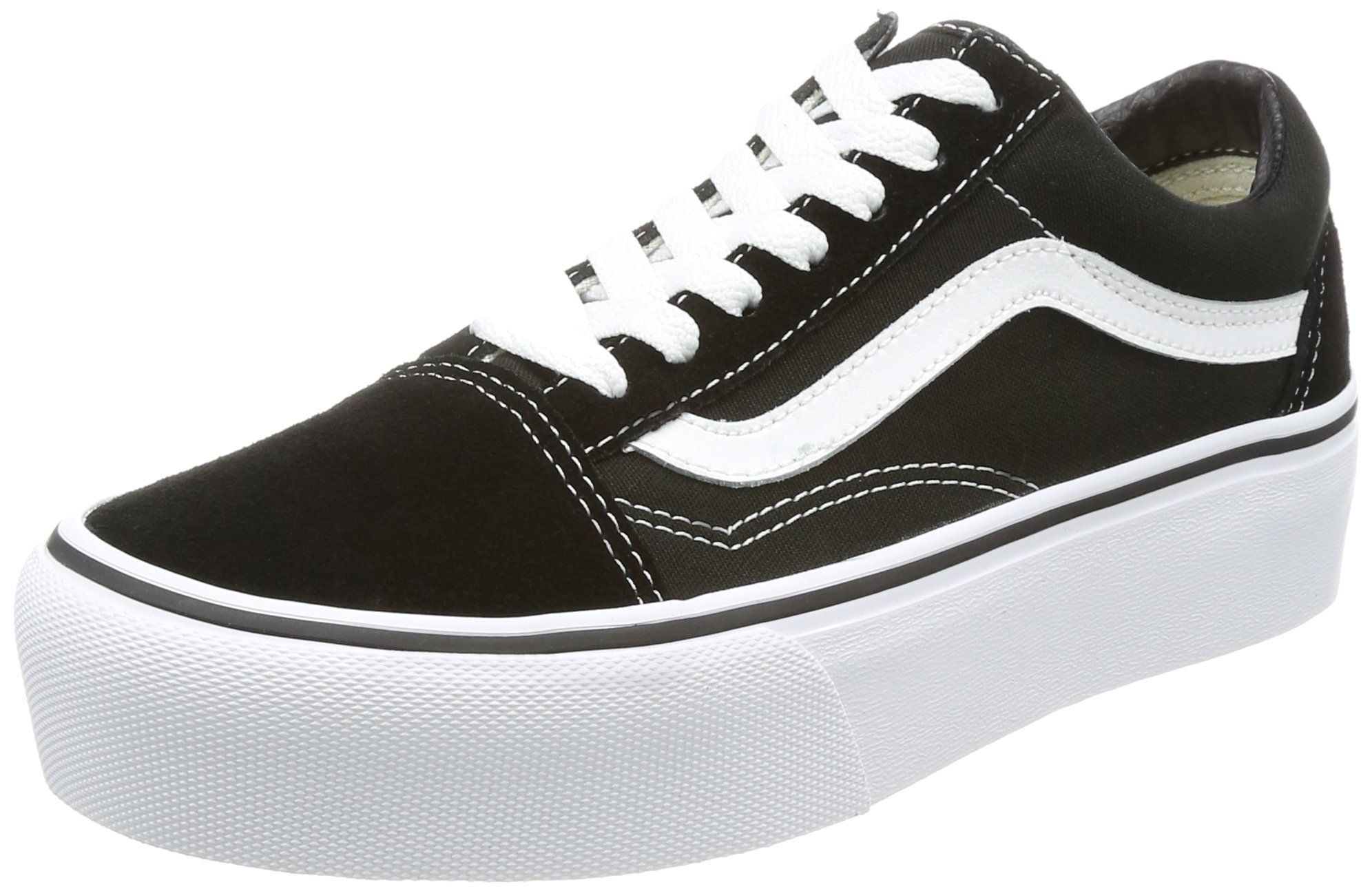 6326a234e6 Galleon - Vans Shoes Woman Low Sneakers VN0A3B3UY28 Old Skool Platform Size  37 Black White