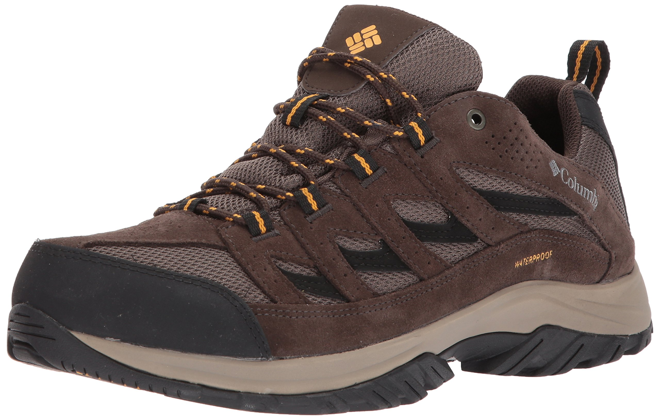 Columbia Men's Crestwood Waterproof Hiking Boot, Mud, Squash, 10 Regular US