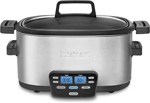 Cuisinart MSC-600 3-In-1 Cook Central 6-Quart Multi-Cooker Slow Cooker,