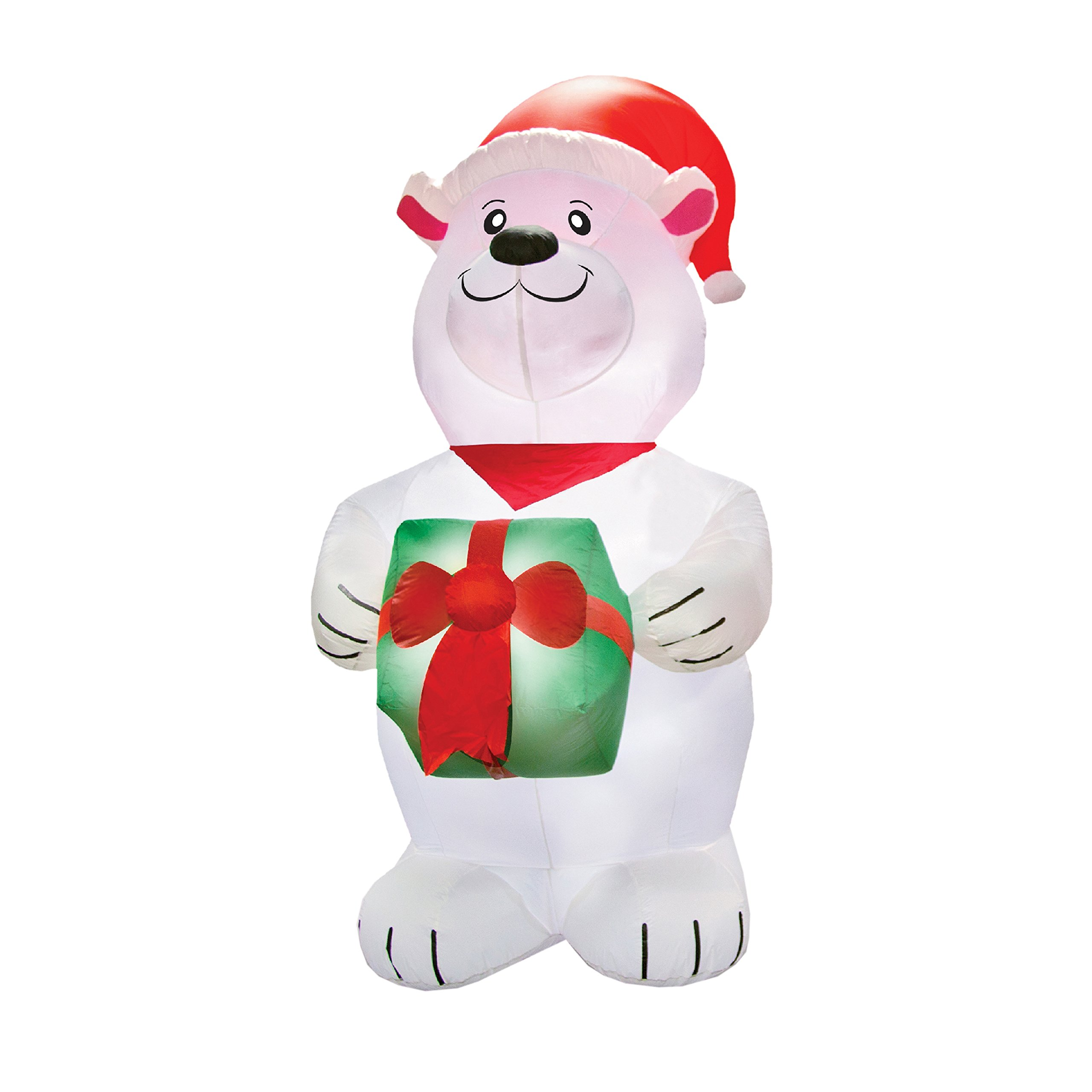 Airformz Airblown Inflatable Polar Bear Holiday Yard Decoration, 7.5 Feet Tall