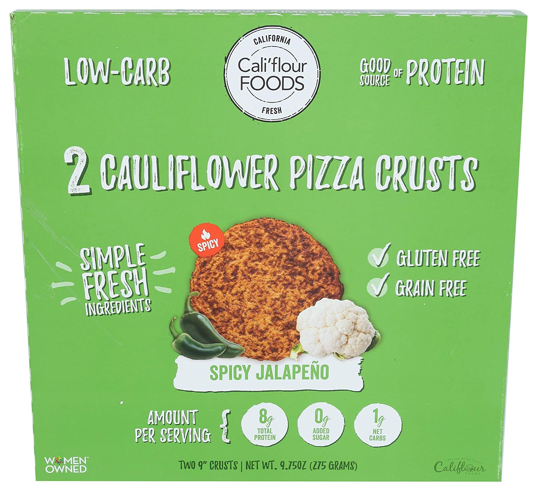 Cali'flour, Pizza Crust Cauliflower Spicy Jalapeno 2 Count, 9.75 Ounce