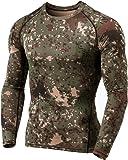 (テスラ)TESLA メンズ 冬用起毛 長袖 ラウンドネック スポーツシャツ [UVカット・吸汗速乾・ 防寒・保温] コンプレッションウェア パワーストレッチ アンダーウェア