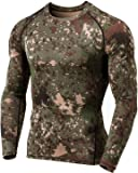 TSLA Men's Thermal Wintergear Compression Baselayer Long Sleeve Top, Thermal Athletic(yud34) - Camo Black, XX-Large