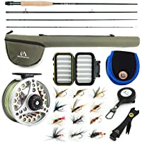 Maxcatch Extreme Fly Fishing Combo Kit 3/5/6/7/8 Weight, Starter Fly Rod and Reel Outfit, with a Protective Travel Case