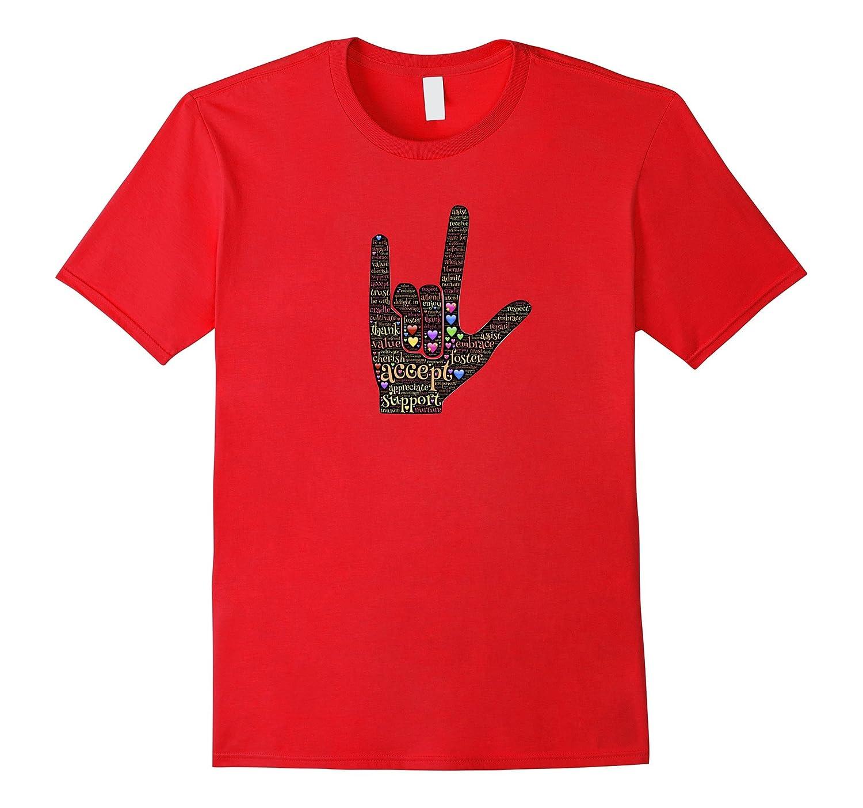 Love Accept Respect ASL Design T-Shirt-PL
