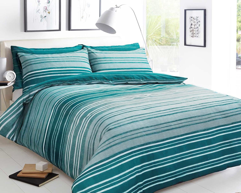 Sleep Down - Juego de Funda nórdica y 2 Fundas de Almohada (algodón), Color Azul