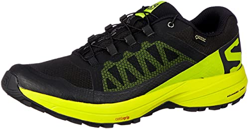 050f6e2e33b1 Image Unavailable. Image not available for. Color  Salomon Men s XA Elevate  GTX Trail Running Shoes Black Lime ...