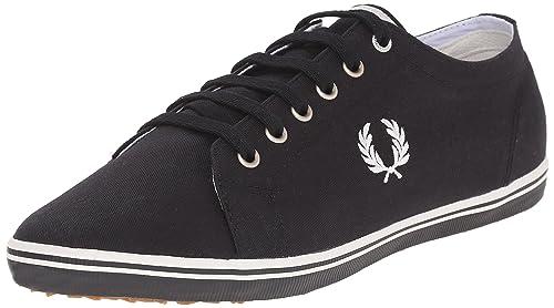 Fred Perry Kingston Twill Sneaker, Black, 6 D UK (7 US)