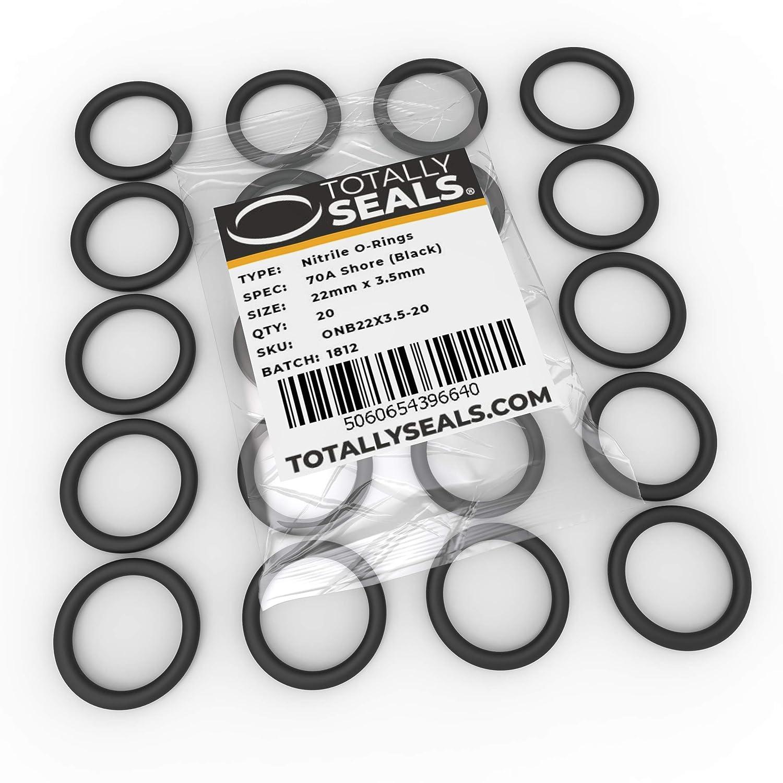29 mm Au/ßendurchmesser verschiedene Packungsgr/ö/ßen 70A Shore H/ärte O-Ringe aus Nitrilkautschuk 22 mm x 3,5 mm Schwarz 1