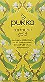 Pukka Turmeric Gold, Organic Herbal Tea with Lemon & Whole Leaf Green Tea (4 Pack, 80 Tea bags)