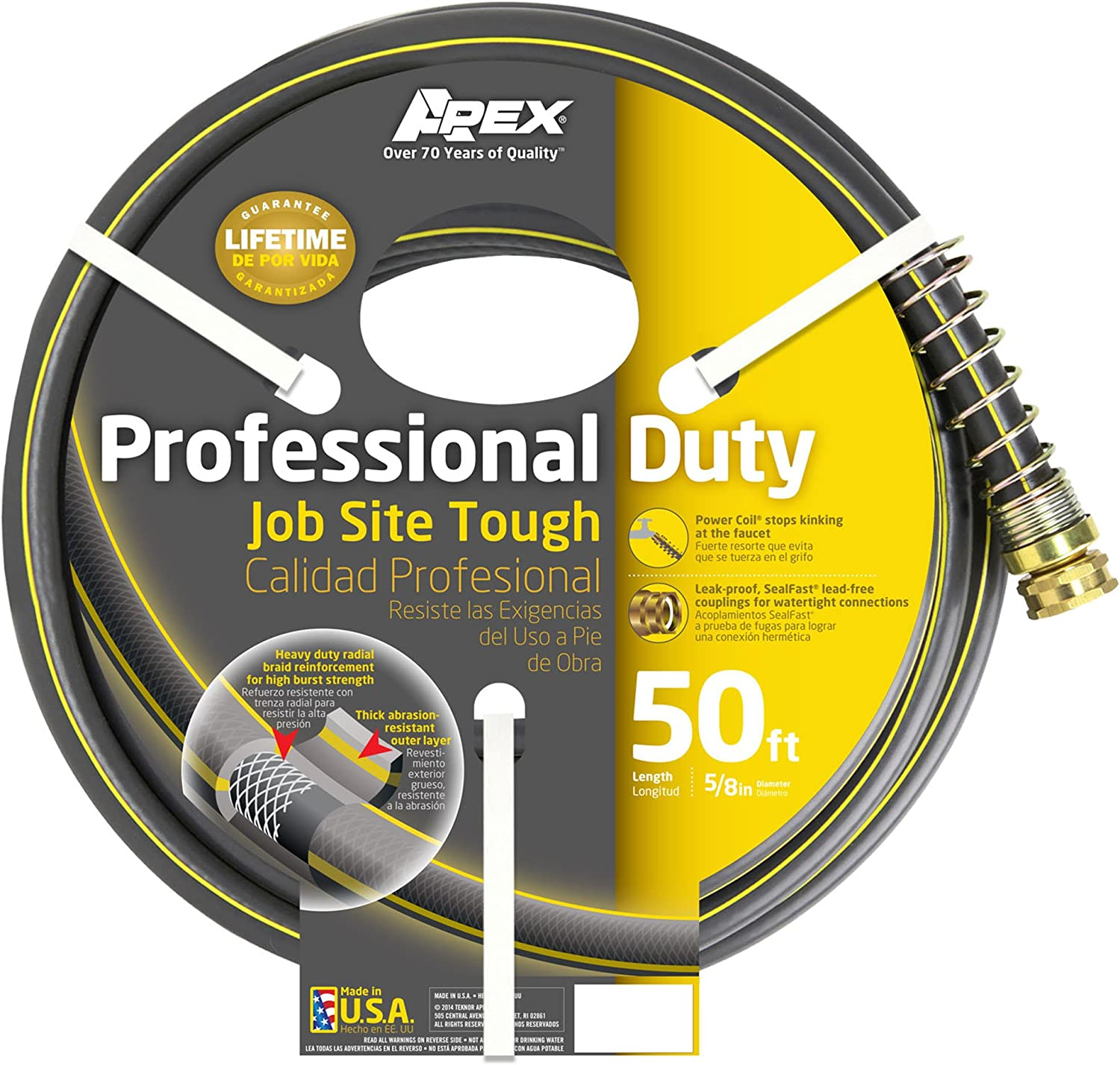 Apex 888VR Commercial Water Hose, 5/8-Inch-by-50-Foot