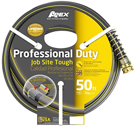 Apex 888VR-50, Professional Duty Water Hose, 5/8 Inch by 50