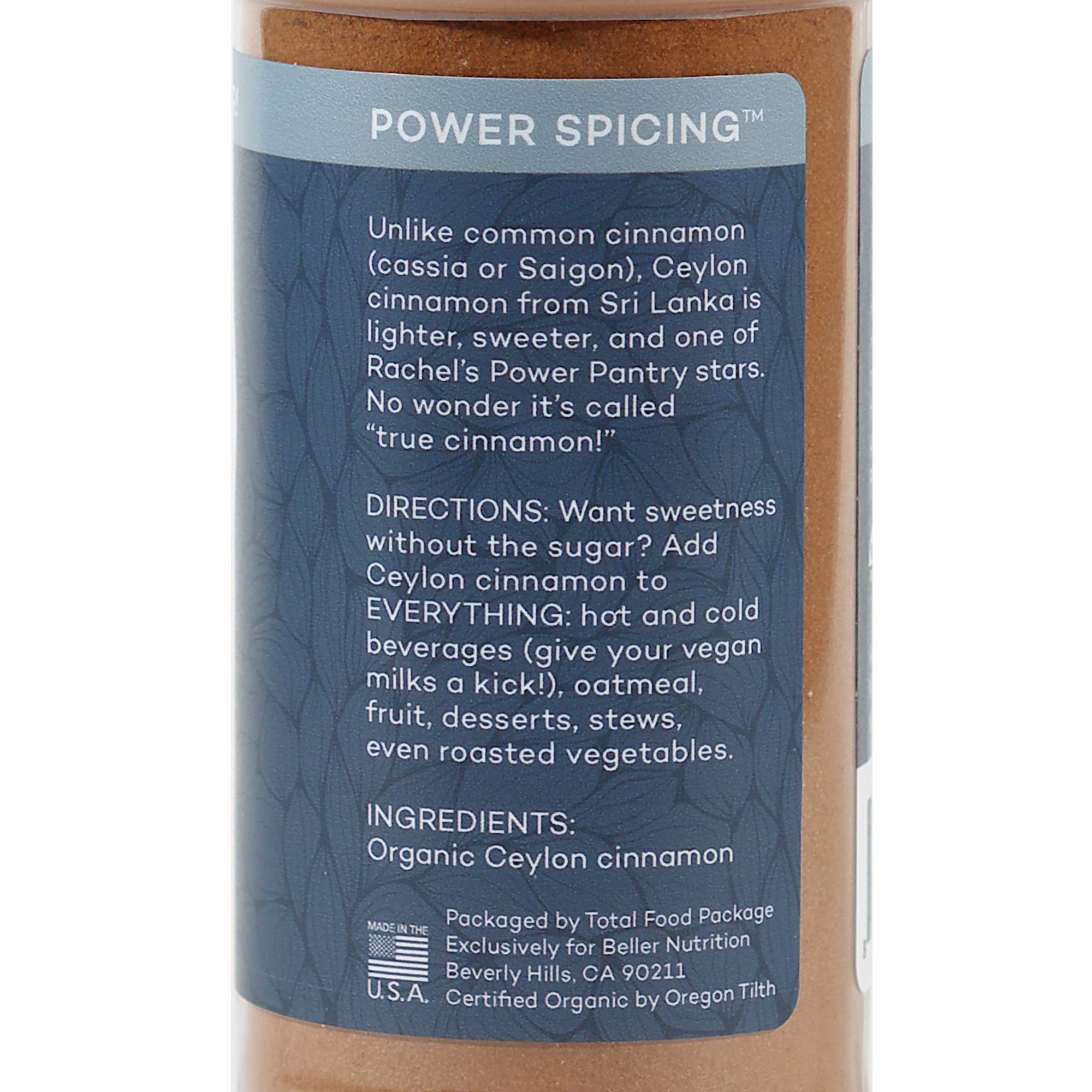 Rachel Beller's Power Pantry Ceylon Cinnamon - Organic Ceylon cinnamon spice, 3.1 ounce by Rachel Beller's Power Pantry (Image #5)