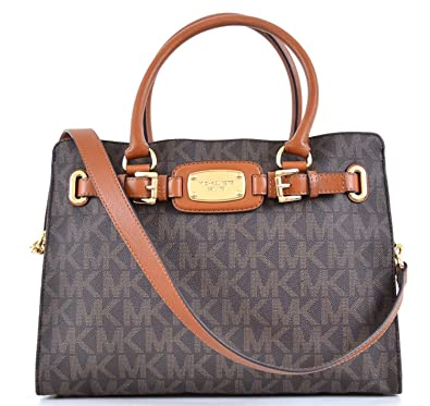 5c502da62a54 Amazon.com  Michael Kors Hamilton Large East West Tote (Brown)  Clothing