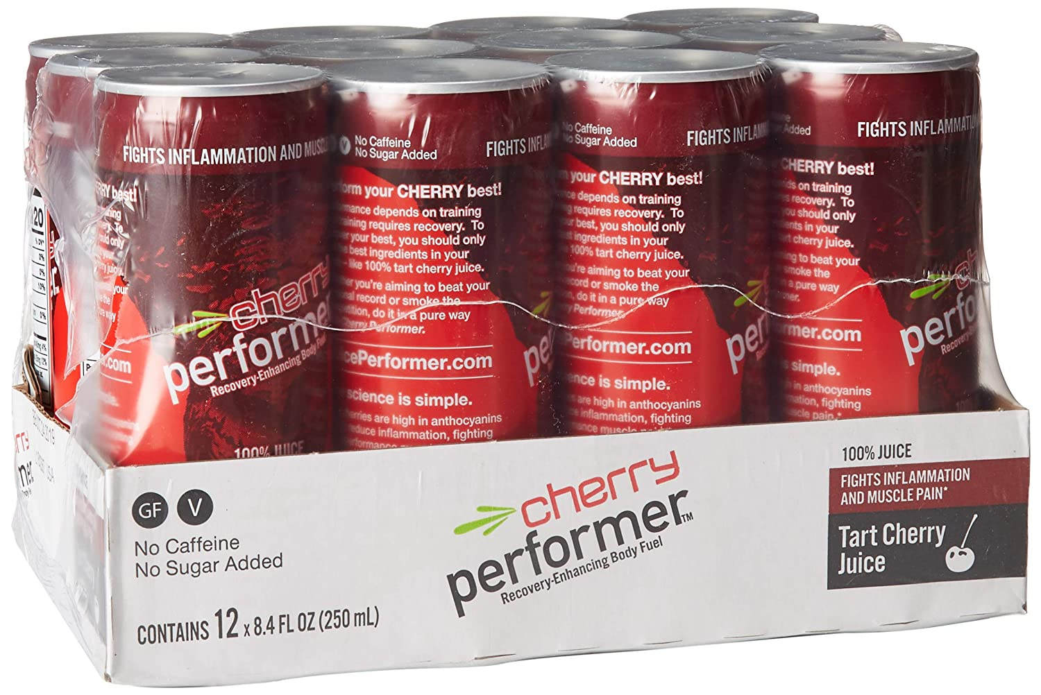 Amazon.com : Cherry Performer Tart Cherry Juice 8.4 Fl. Oz. Can (12 Pack) : Grocery & Gourmet Food