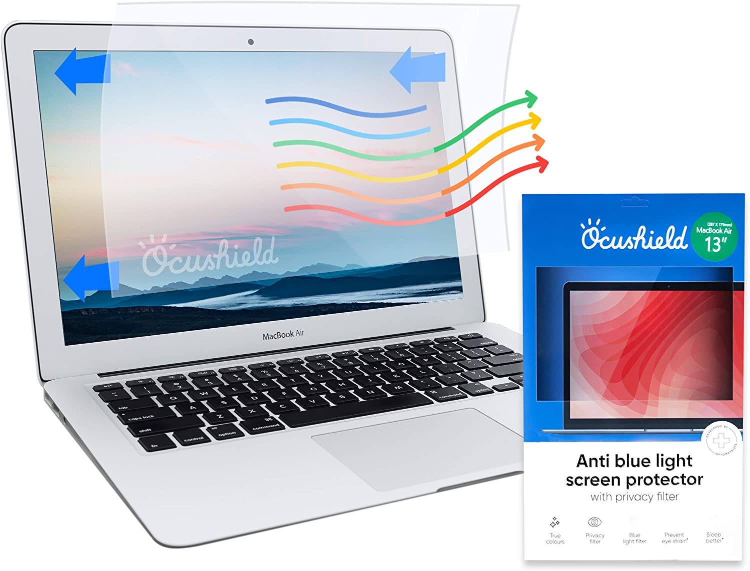 "Ocushield Anti Blue Light Screen Protector for Apple MacBook Pro 15"" - Privacy Filter - Anti-Glare"