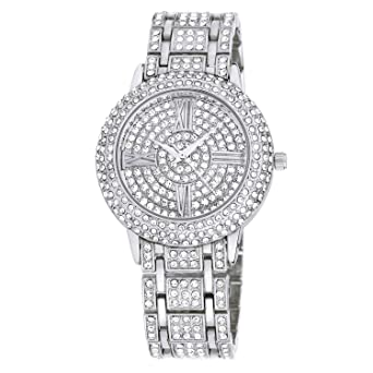 Zeiger New Women Luxury Ladies Analog Quartz Round Watch Bling Jewelry  Plated Classic Watch Crystal Charm 26da8bc7a8dd