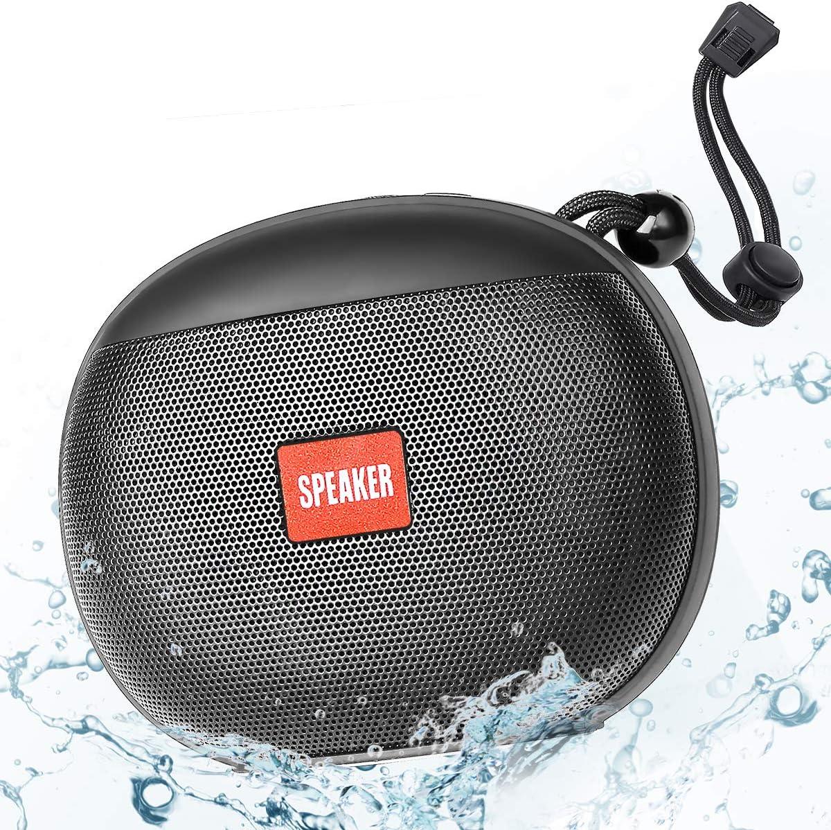 Altavoces Bluetooth Ducha, Altavoz Bluetooth Portatiles, Altavoz Bluetooth Inalámbrico 5.0 Estéreo TWS HD, 2400mAh 12 Horas de Juego, Impermeable IPX6 Micrófono incorporado soporte de radio FM TF, USB