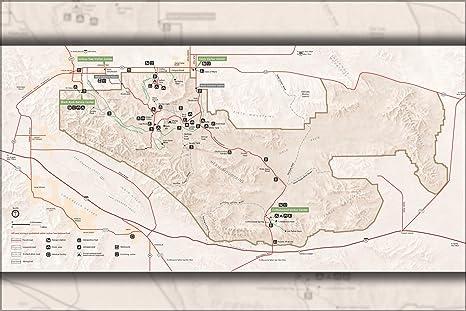 Amazon Com 16x24 Poster Map Of Joshua Tree National Park Mojave
