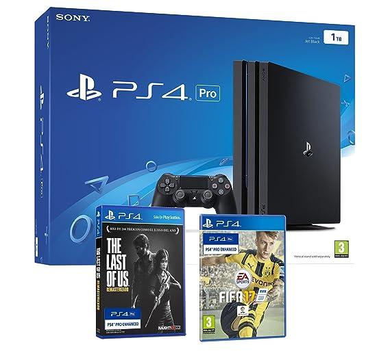 Ps4 Pro 1tb Playstation 4 Pack 4k Incluye 2 Juegos Con