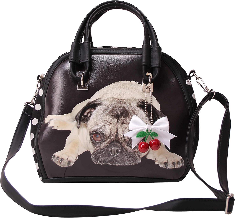 SugarShock Damen Handtasche Elsa-Bintang Pug Dots