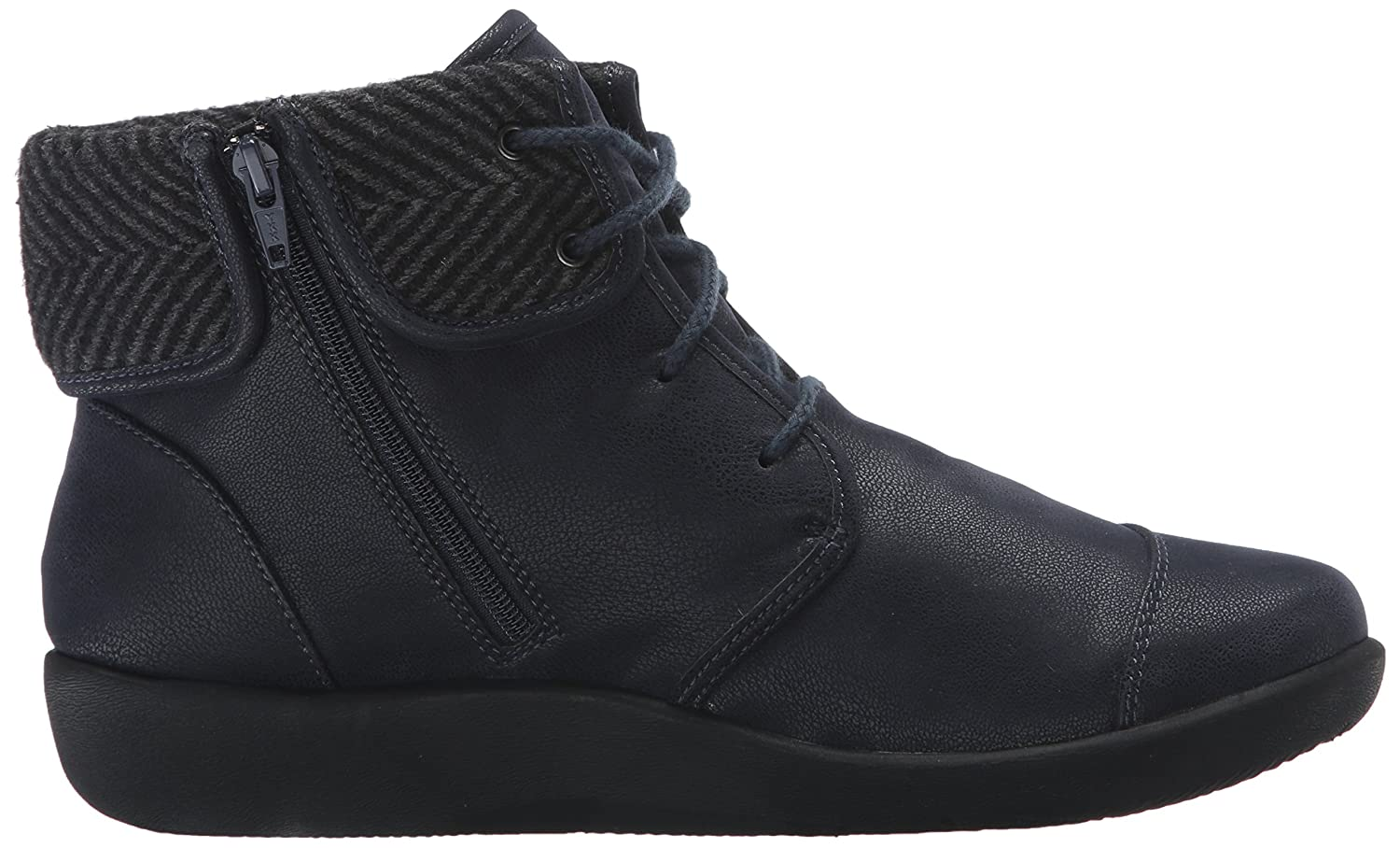 CLARKS Women's Sillian Frey Boot B0198WJB46 9.5 B(M) US|Navy Synthetic Nubuck