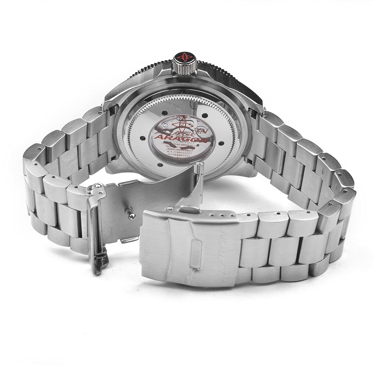 Amazon.com: Aragon A054PUR Divemaster Automatic 50mm: Wing Liang: Watches