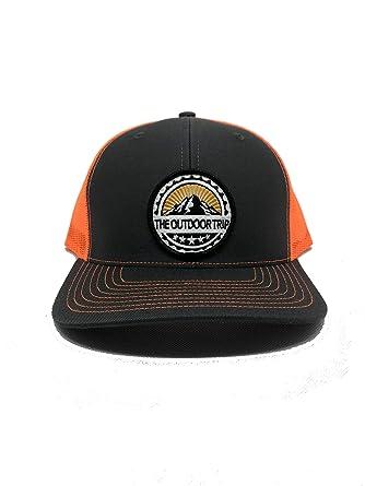 c8fa39ed310 Black Snapback Ball Cap - Deer Duck and Turkey Hunting with Orange ...