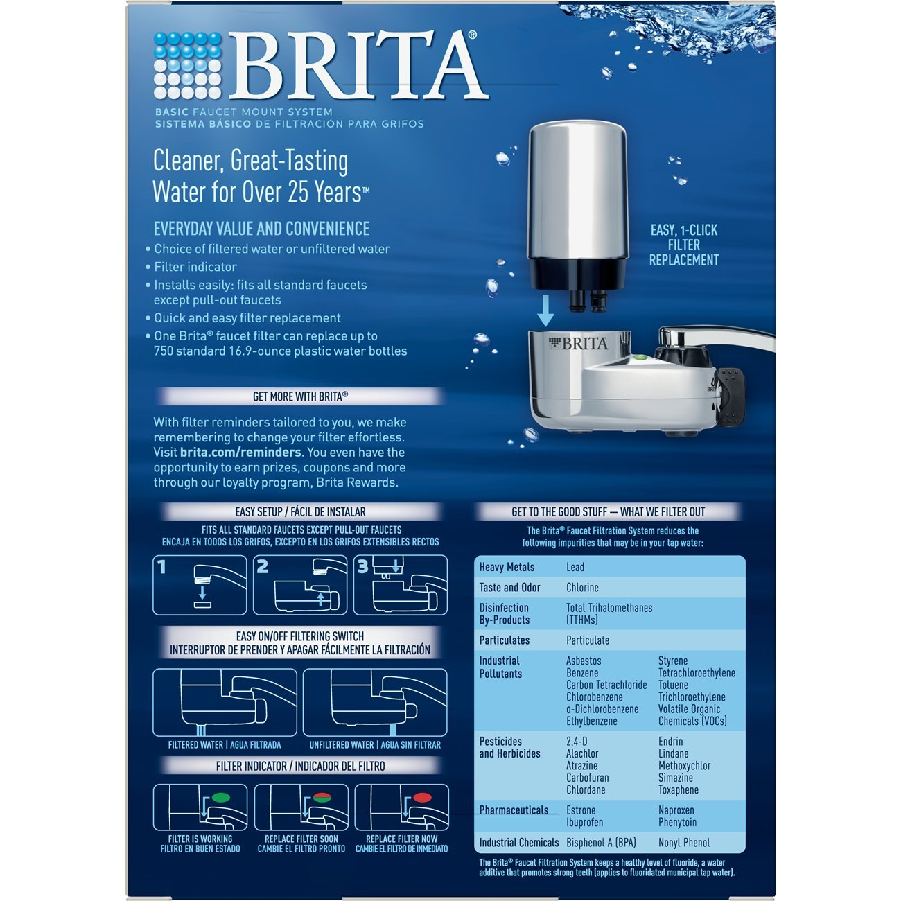 Brita On Tap Chrome Water Faucet Filtration System (Fits Standard ...