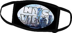 3dRose RinaPiro - Cities Around The World - New York City Vibes. NYC. Fun City. USA - Face Masks (fm_261452_1)