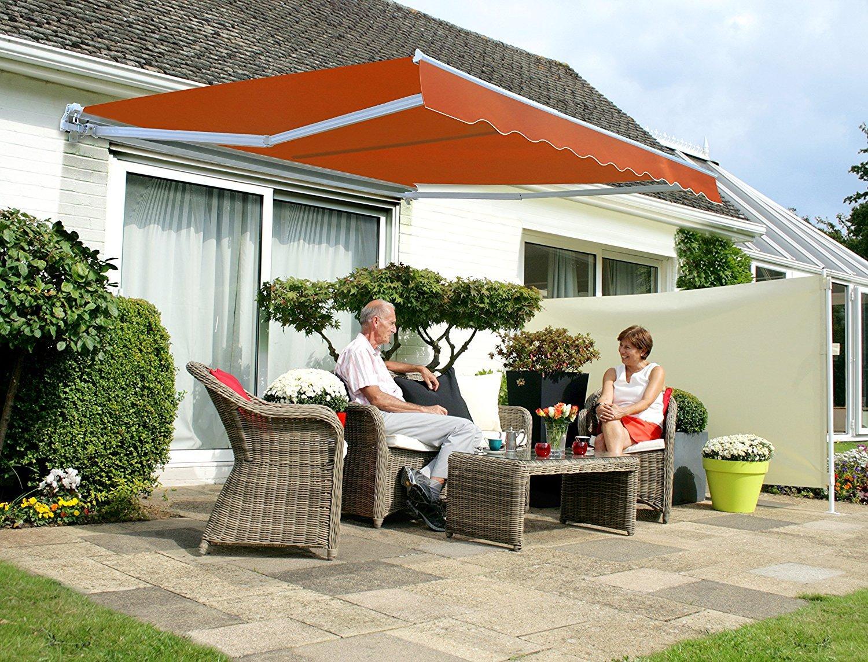 3 -5m günstige Standardmarkise - Terrakotta - 300g-qm Polyester