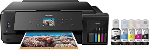 Epson Expression Premium EcoTank Wireless 5-Color All-in-One Supertank Printer with Scanner, Copier and Ethernet ET-7750