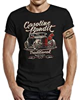Rockabilly Hot-Rod RacerT-Shirt original GASOLINE BANDIT® Design: Traditional