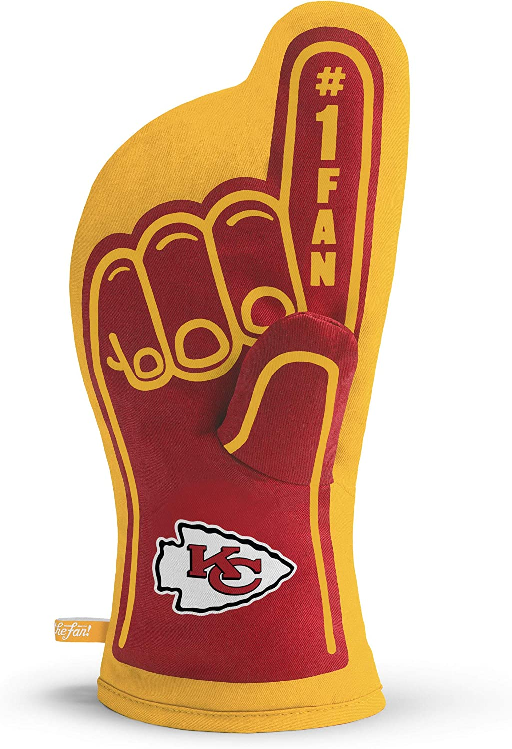 YouTheFan NFL #1 Oven Mitt:13.25'' x 6.5'' Heat Resistant 100% Quilted Cotton Team Oven Mitt