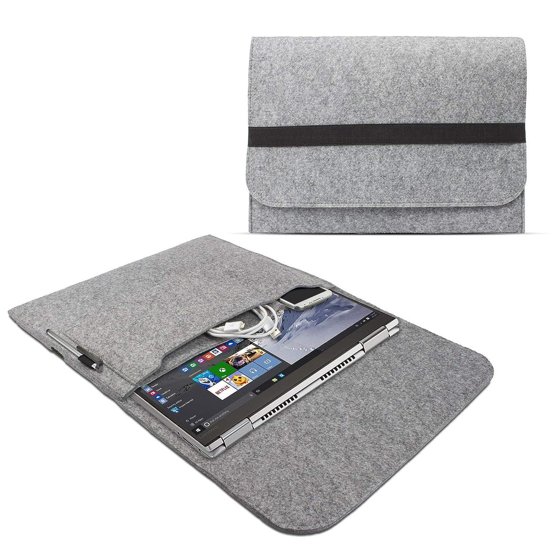 eFabrik – Funda para Lenovo Yoga 710 Funda 14 Pulgadas Ultrabook Notebook Case Soft Cover Funda Sleeve Fieltro Gris Claro
