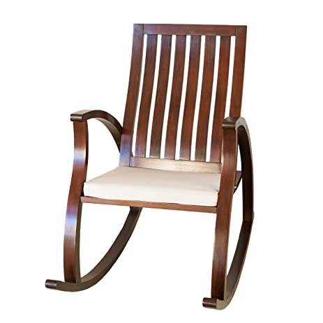 Best Selling Addison Mahogany Wood Rocking Chair, Brown