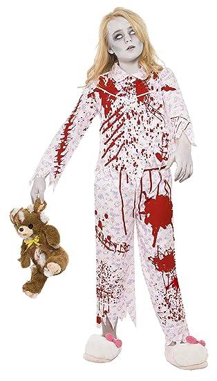 Smiffys - Disfraz para niña con diseño zombi, talla M (24379M)