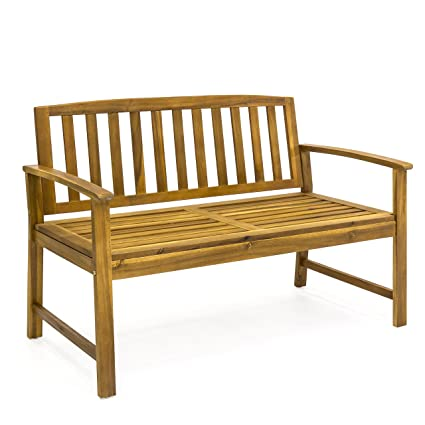Remarkable Best Choice Products Outdoor 48 Acacia Wood Patio Garden Bench Solid Construction Lamtechconsult Wood Chair Design Ideas Lamtechconsultcom