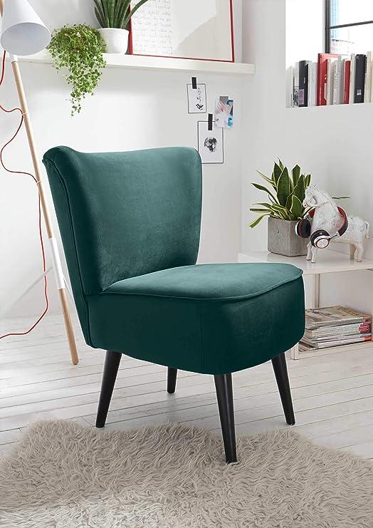 lifestyle4living Esszimmerstuhl, gepolstert, grün, Vintage