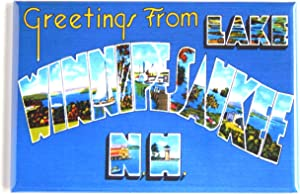 Greetings from Lake Winnipesaukee New Hampshire Fridge Magnet (2.5 x 3.5 inches)
